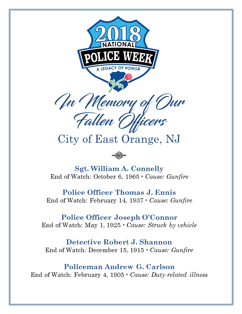 Fallen Officers of City of East Orange